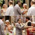 Iolanda (Carolina Dieckmann) e Mundo (Domingos Montagner) se casam e recebem o carinho dos amigos, em cena de 'Joia Rara'