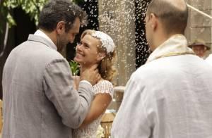 'Joia Rara': após se casar com Mundo, Iolanda se preocupa com o ciúme do marido