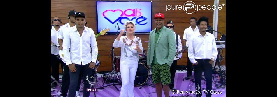 Cantor Márcio Victor, do Psirico, conversa sobre o sucesso 'Lepo, lepo' com Ana Maria Braga na manhã desta sexta-feira, 21 de fevereiro de 2014
