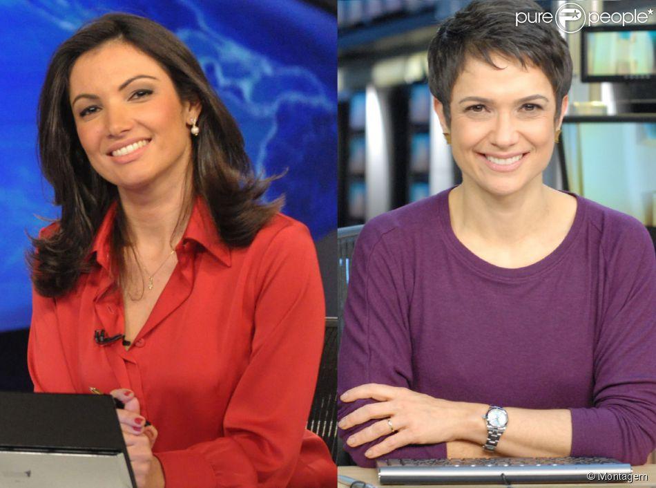 Patrícia Poeta e Sandra Annenberg vão apresentar 'Jornal Nacional' no Dia Internacional da Mulher, dia 8 de março