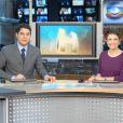 Sandra Annenberg é apresentadora do 'Jornal Hoje' ao lado de Evaristo Costa