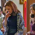 Laerte (Gabriel Braga Nunes) e Helena (Julia Lemmertz) se reencontram no enterro de Itamar (Nelson Baskerville), na novela 'Em Família'