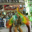 Jessica Maia samba durante o desfile da Mocidade