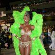 Cris Vianna brilha como rainha de bateria da Imperatriz Leopoldinense, em 4 de março de 2014