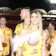 Fernanda Lima curtiu o Carnaval do Rio com o  marido, Rodrigo Hilbert