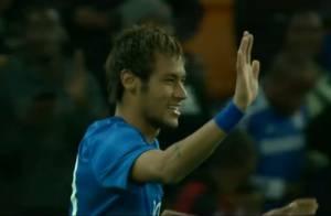 Neymar marca três gols na vitória de 5 a 0 do Brasil contra a África do Sul