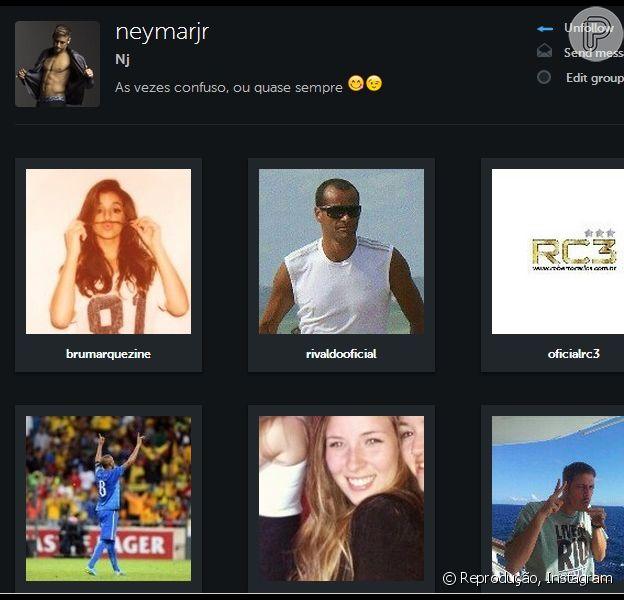 Mesmo separados, Neymar resolveu voltar a seguir a ex-namorada, Bruna Marquezine, na rede social Instagram, em 16 de março de 2014
