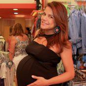 Nivea Stelmann e Bárbara Borges exibem barrigões de grávida em evento no Rio