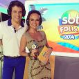Em Salvador, Eliana circulou sem aliança na mão esquerda