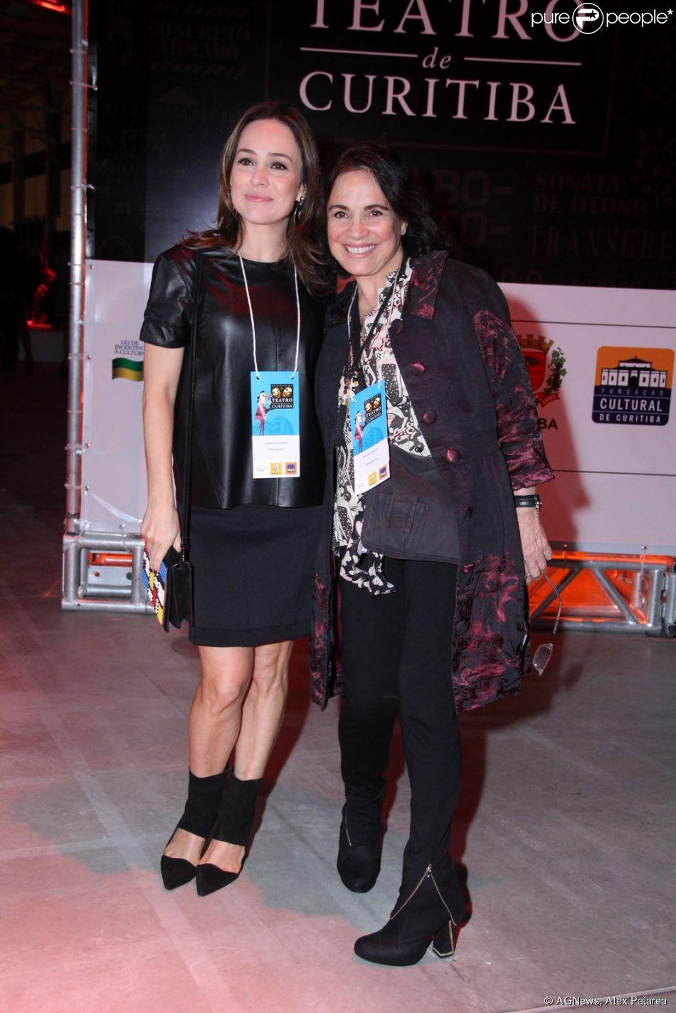 Regina Duarte vai a Festival de Teatro de Curitiba com a filha, Gabriela Duarte, na noite desta terça-feira, 25 de março de 2014