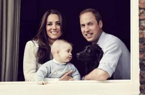 Kate Middleton e príncipe William aparecem ao lado do filho, George, em foto