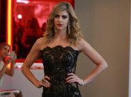 Fernanda Lima usa macacão transparente e decote ousado em desfile de moda em SP
