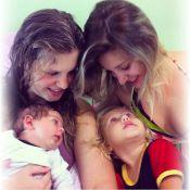 Carolinie Figueiredo mostra filho recém-nascido: 'Sentimento infinito de amor'