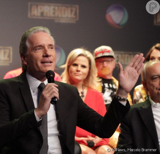 Roberto Justus comandou na tarde desta quinta-feira, 10 de abril de 2014, uma coletiva de imprensa para anunciar as novidades do reality show 'Aprendiz Celebridades'
