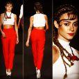Thaila Ayala desfilou pela grife Ausländer, no Fashion Rio