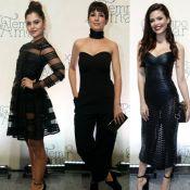 Looks all black dominam no lançamento da novela 'Tempo de Amar'. Veja fotos!