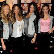Adriana Lima e Candice Swanepoel celebram o 'Victoria's Secret Angel Holiday'