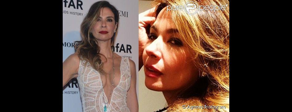 Luciana Gimenez fica loira e exibe novo visual no Instagram (20 de abril de 2014)