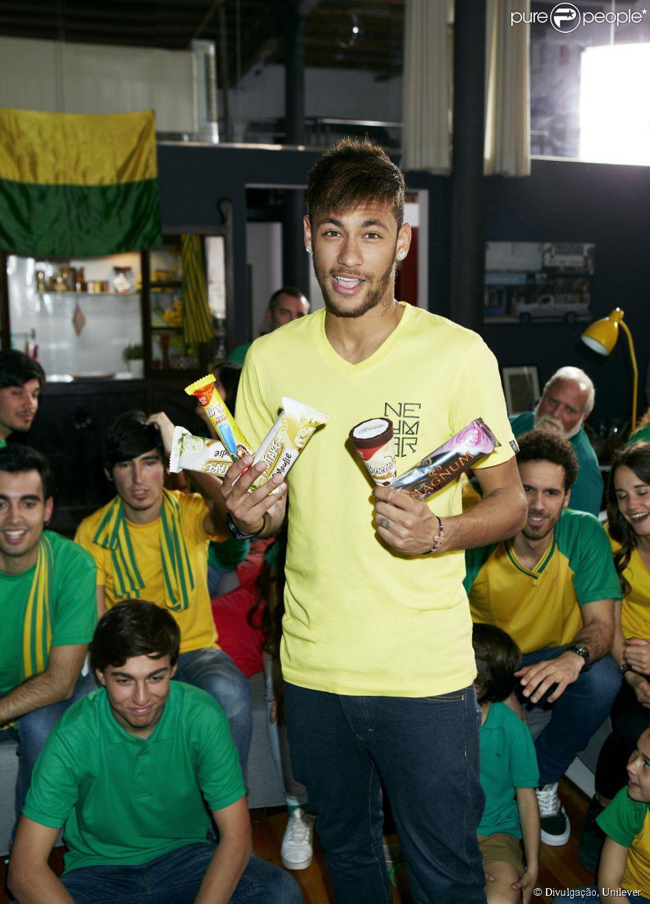 Neymar é o novo garoto propaganda da arca de sorvetes Kibon