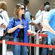 No dia 30 de novembro, Thaís Fersoza foi fotografada com um look bem casual na fila de check-in do aeroporto Santos Dumont, no Rio
