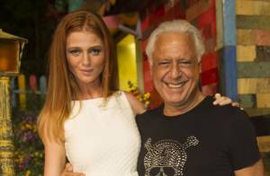 Estreante, Cintia Dicker pensou que fosse levar bronca de Antonio Fagundes