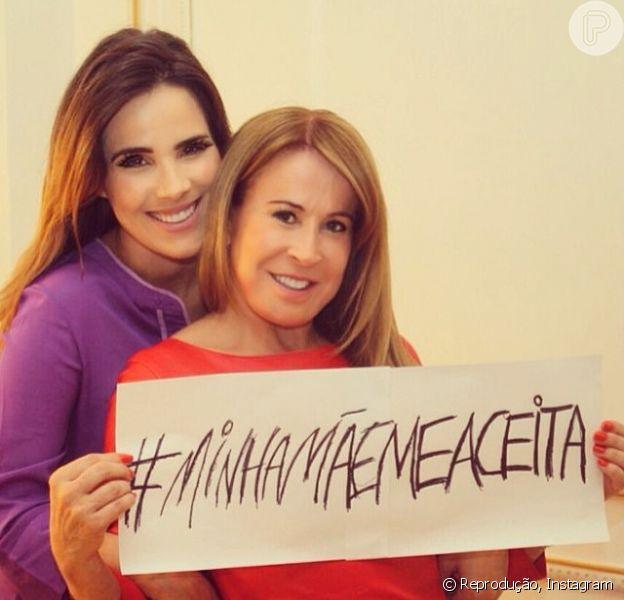 Wanessa posou ao lado da mãe, Zilu, para lançar uma campanha contra o preconceito nas redes sociais