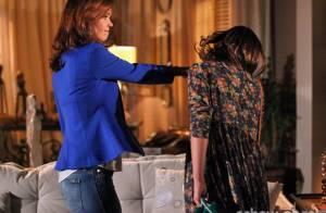 'Em Família': Helena dá tapa em Luiza. 'É a mim que o Laerte está beijando'