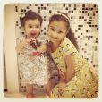 Alicia e Lara são filhas da atriz Samara Felippo com o jogador de basquete, Leandrinho