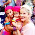 Samara Felippo com as ciganinhas mais lindas, Alicia e Lara