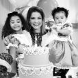 Samara Felippo fez questão de vestir as filhas de 'Alice no País das Maravilhas' para celebrar os seus aniversários