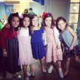 Alicia, filha de Samara Felippo, aproveitou sua festa de 5 anos ao lado das amiguinhas. Fofas!