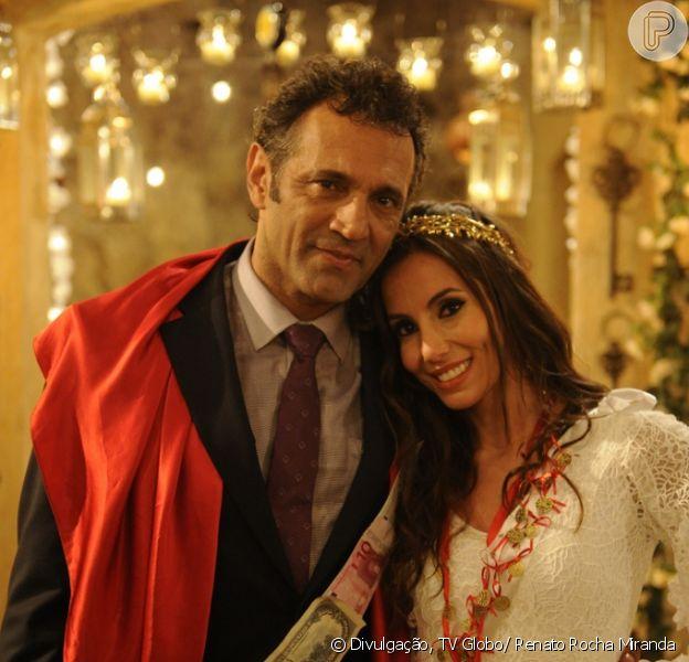 A união de Zyah (Domingos Montagner) e Ayla (Tânia Khalil) fica ameaçada com viagem do casal ao Brasil em 'Salve Jorge', em fevereiro de 2013