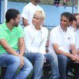 Xuxa Meneghel esteve na da cerimônia de encerramento do 1º Campeonato de Futebol e Cidadania, nesta segunda-feira, 2 de junho de 2014, na sua Fundação, que leva seu nome, em Pedra de Guaratiba, Zona Oeste do Rio de Janeiro