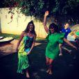 Fernanda Paes Leme escolhe vestido amplo com as cores deo Brasil e Fabíula Nascimento opta por um modelo mais justo
