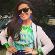 Giovanna Antonelli capricha no look para a Copa do Mundo. A atriz investiu em um body estampado com as cores do Brasil, além de maxi brincos azuis