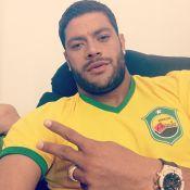Hulk faz fisioterapia em Fortaleza e exame não constata lesão na coxa do atleta