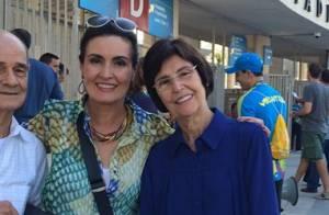 Mãe de Fátima Bernardes é internada em hospital no Rio: 'É uma infecção'