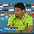 Thiago Silva conversou com jornalistas na tarde de 3 de julho