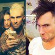 Em amio deste ano, Adam Levine platinou o cabelo