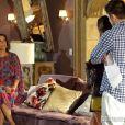 André (Bruno Gissoni) confronta Branca (Ângela Vieira), no último capítulo de 'Em Família'