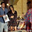 André (Bruno Gissoni) conta para Branca (Ângela Vieira) que é seu filho, no último capítulo de 'Em Família'