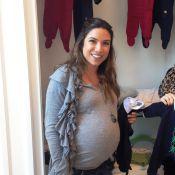 Grávida de 8 meses, Patricia Abravanel escolhe enxoval para o filho, Pedro