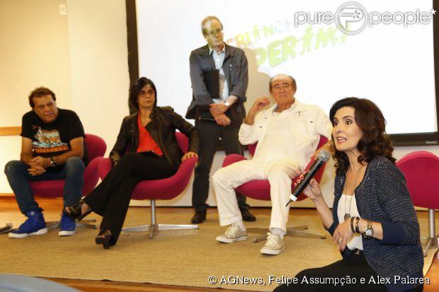 Fátima Bernardes e Glória Maria também estiveram na coletiva do 'Criança Esperança'