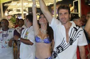 Thalita Lippi substitui Letícia Spiller em desfile ao lado de Eriberto Leão