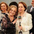'Já teve todo tipo de casal gay, agora são duas mulheres de 80 anos que vivem um casamento', contou Fernanda Montenegro