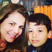 Miguel, filho dos atores Nivea Stelmann e Mário Frias, completa 10 anos