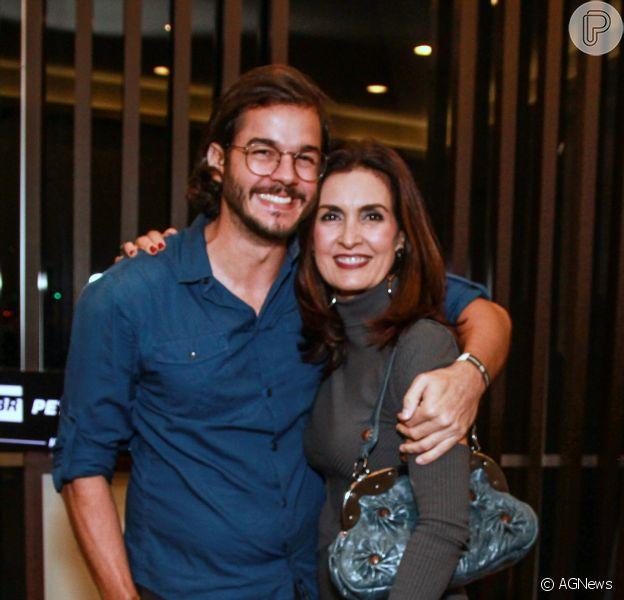 Fátima Bernardes comemorou alta do namorado, Túlio Gadêlha, do hospital neste sábado, 1 de dezembro de 2018