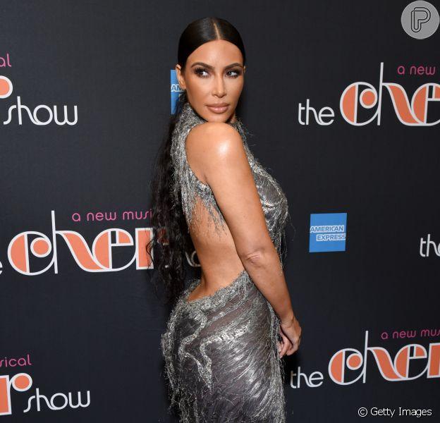Kim Kardashian marcou presença no 'The Cher Show', o espetáculo musical da cantora Cher, em Nova York, nesta segunda-feira, 3 de dezembro de 2018