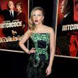 Scarlett Johansson na pré-estreia de 'Hitchcock', seu novo filme de 2012, em Nova York