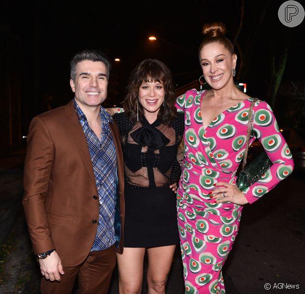 Erika Januza, Mariana Ximenes, Maria Joana e mais famosos se reunem na casa de Fausto Silva após final da 'Dança dos Famosos' 2018 neste domingo, 16 de dezembro de 2018